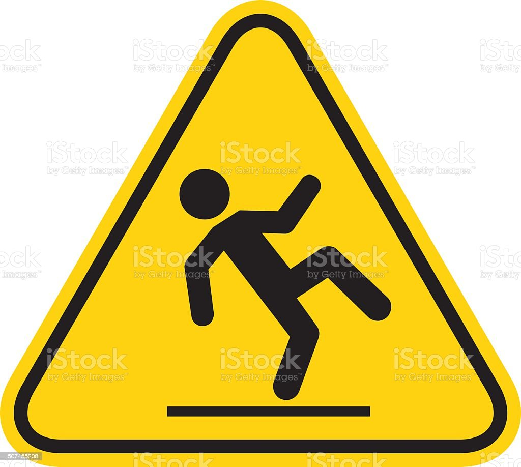 Wet Floor Sign vector art illustration