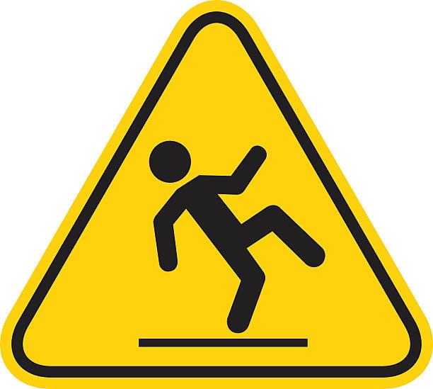 Wet Floor Sign Wet Floor Sign slippery stock illustrations