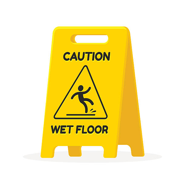 wet floor sign - nass stock-grafiken, -clipart, -cartoons und -symbole