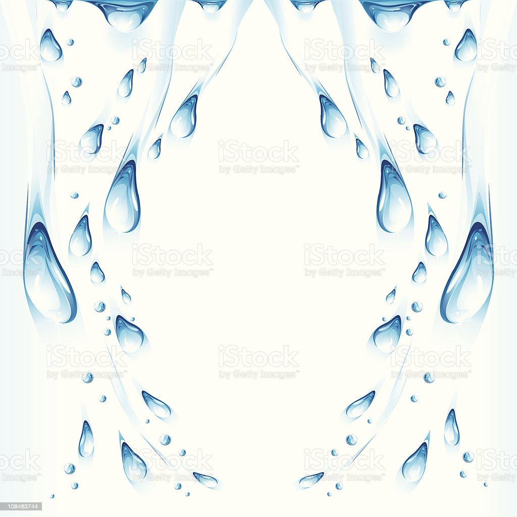Wet the surface. Drops. vector art illustration