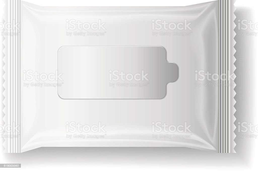 wet wipes package realistic vector vector art illustration