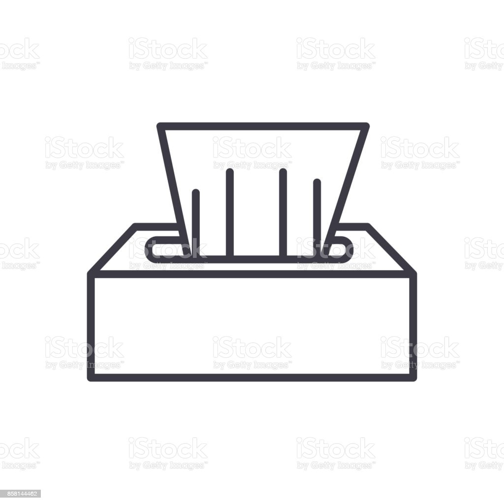 wet wipes vector line icon, sign, illustration on background, editable strokes vector art illustration