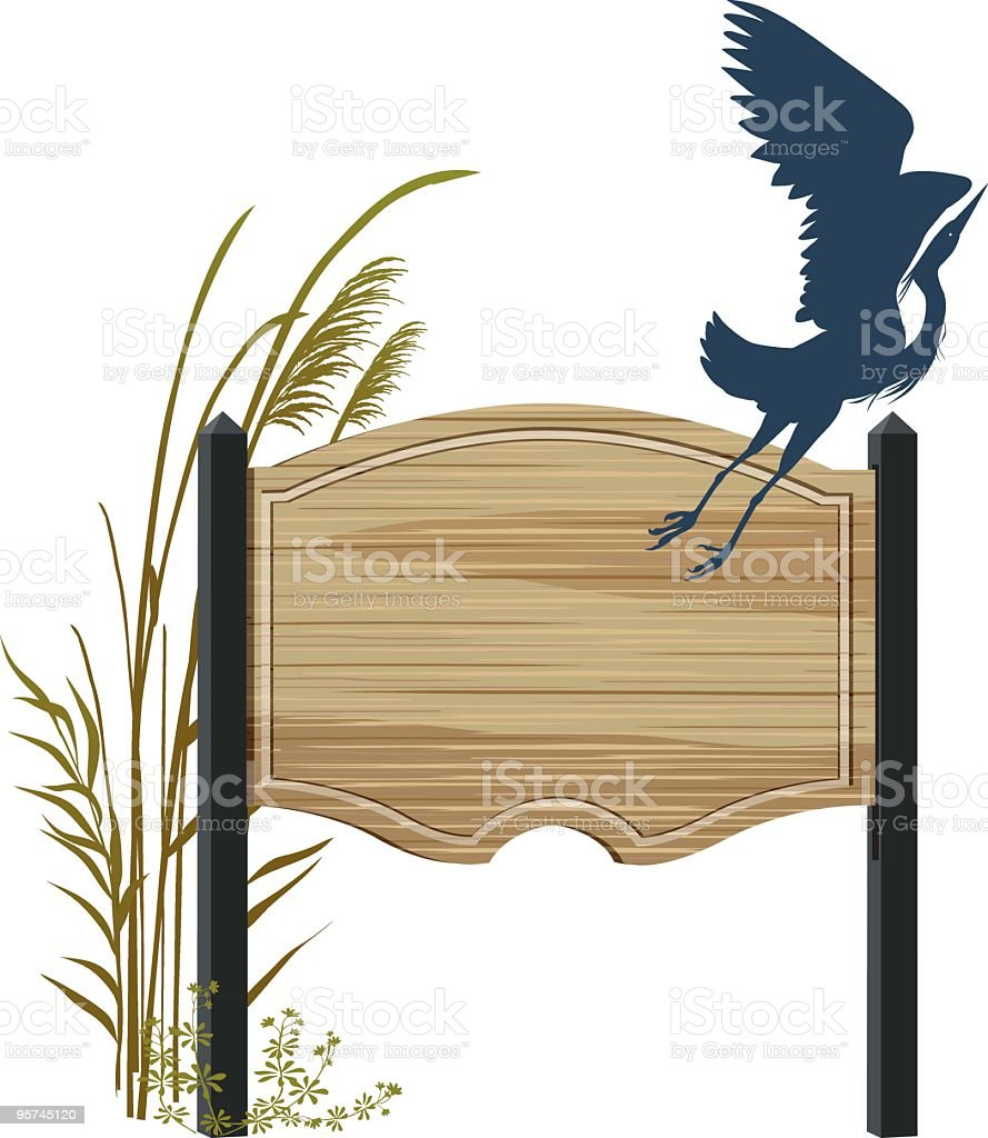 Wetlands Sign vector art illustration