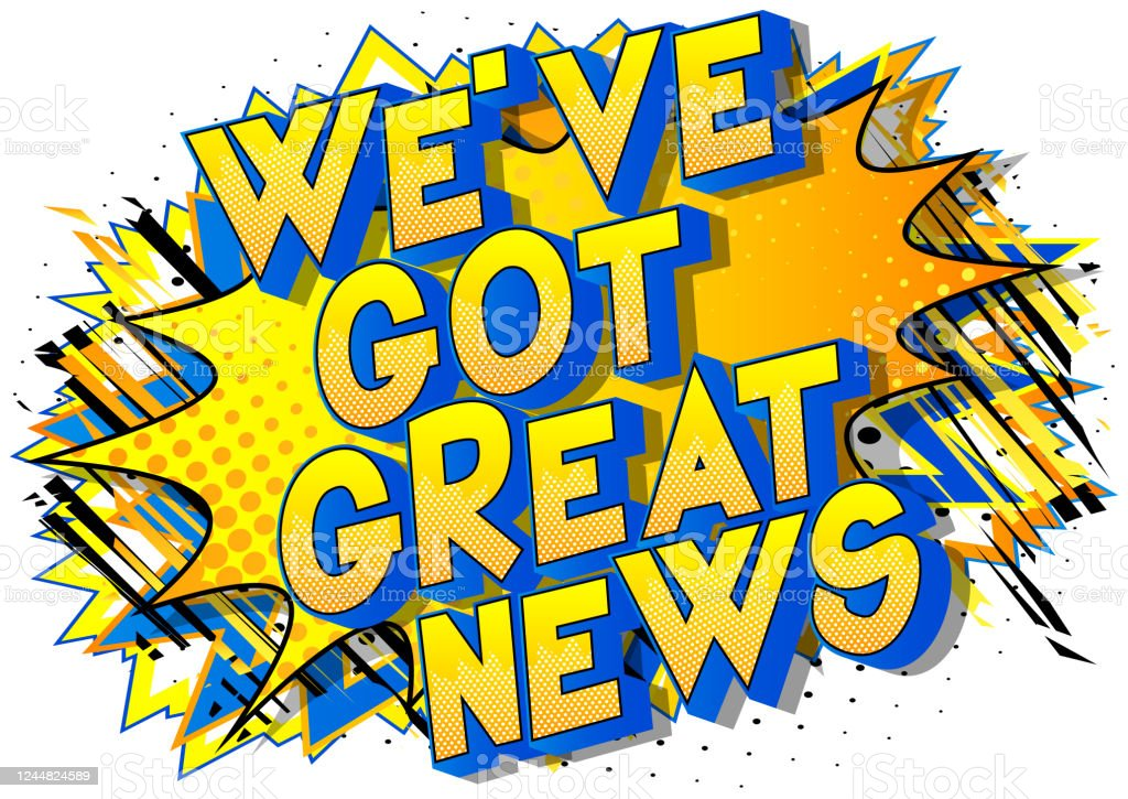 We've Got Great News - Comic book style word We've Got Great News - Comic book style word on abstract background. Advice stock vector