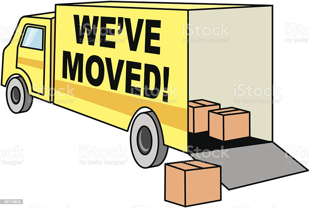 we've moved! royalty-free weve moved stock vector art & more images of box - container