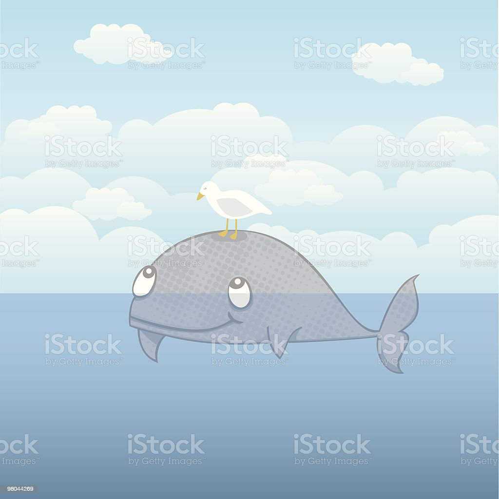 Whale and seagull royalty-free whale and seagull stock vector art & more images of backgrounds