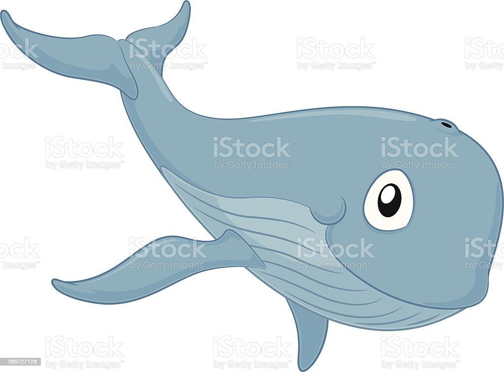 Whale Cartoon vector art illustration