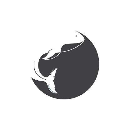 whale icon vector illustration design