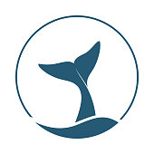 istock Whale tail logo 1180014839