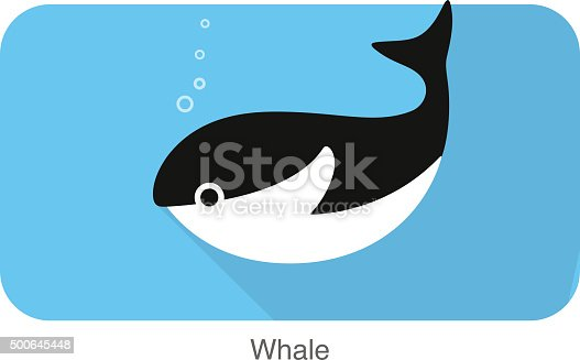 istock whale under the water, vector 500645448