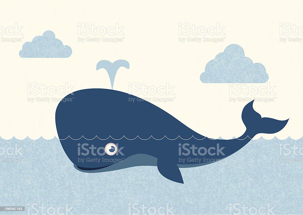 Observation des baleines - Illustration vectorielle