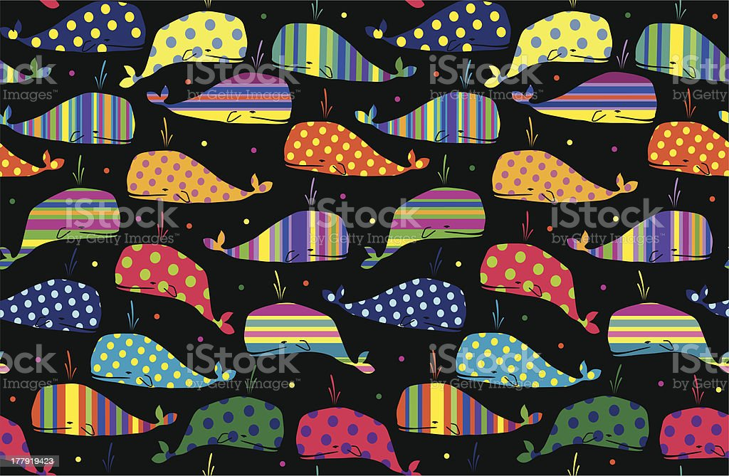 whales seamless background royalty-free stock vector art