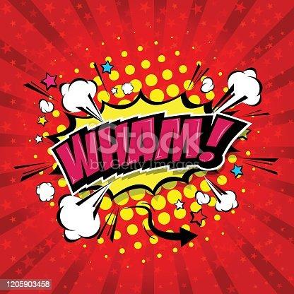 istock Wham! Comic Speech Bubble 1205903458