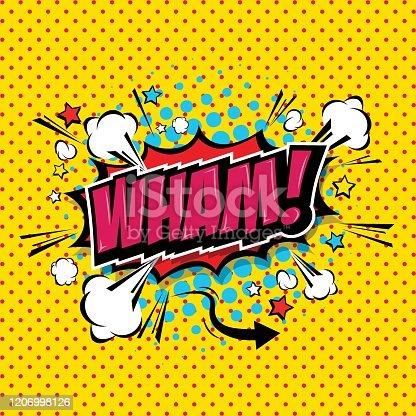 istock Wham! Comic Speech Bubble 1206998126