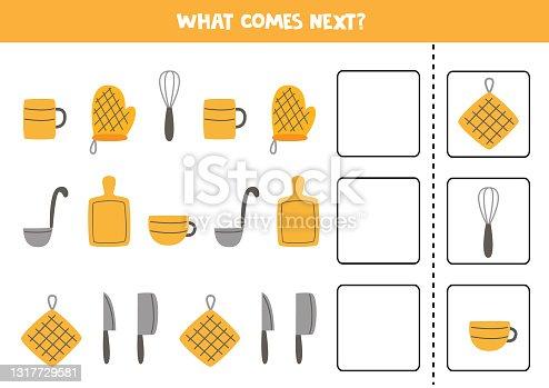 O que vem no próximo jogo com utensílios de cozinha.