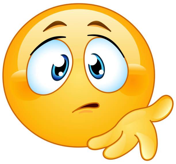 ilustraciones, imágenes clip art, dibujos animados e iconos de stock de ¿qué es el emoticono equivocado - emoji confundido