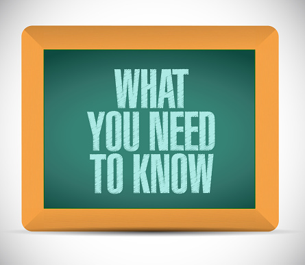 What you need to know sign illustration