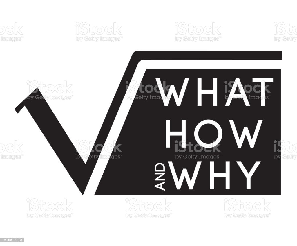 Whathowwhy With Square Root Stock Vector Art More Images Of