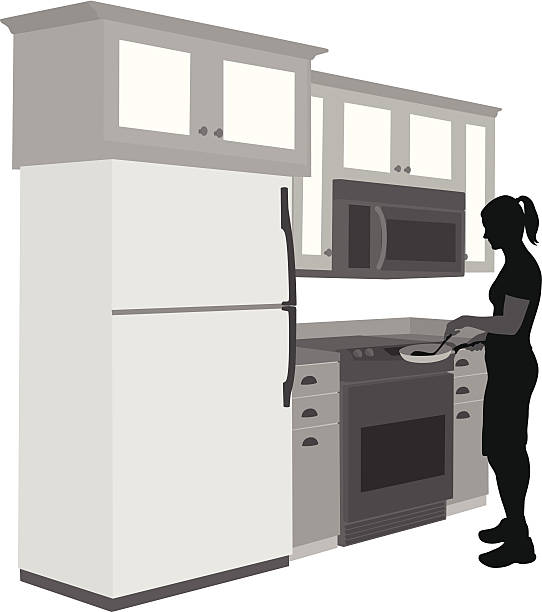 Whats Cooking? Vector Silhouette A-Digit cooking silhouettes stock illustrations