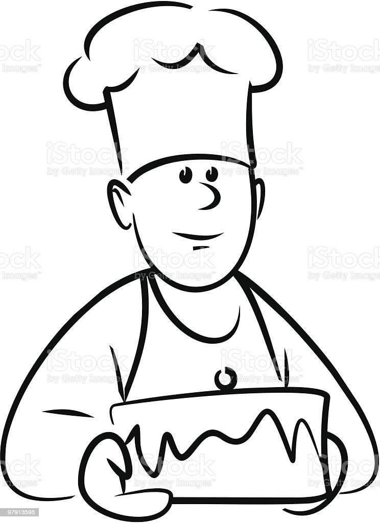 Whats in his cake this time?.. royalty-free whats in his cake this time stock vector art & more images of adult