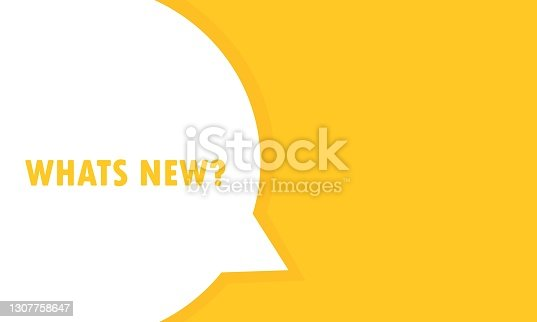 istock Whats new speech bubble banner. Can be used for business, marketing and advertising. Vector EPS 10. Isolated on white background 1307758647