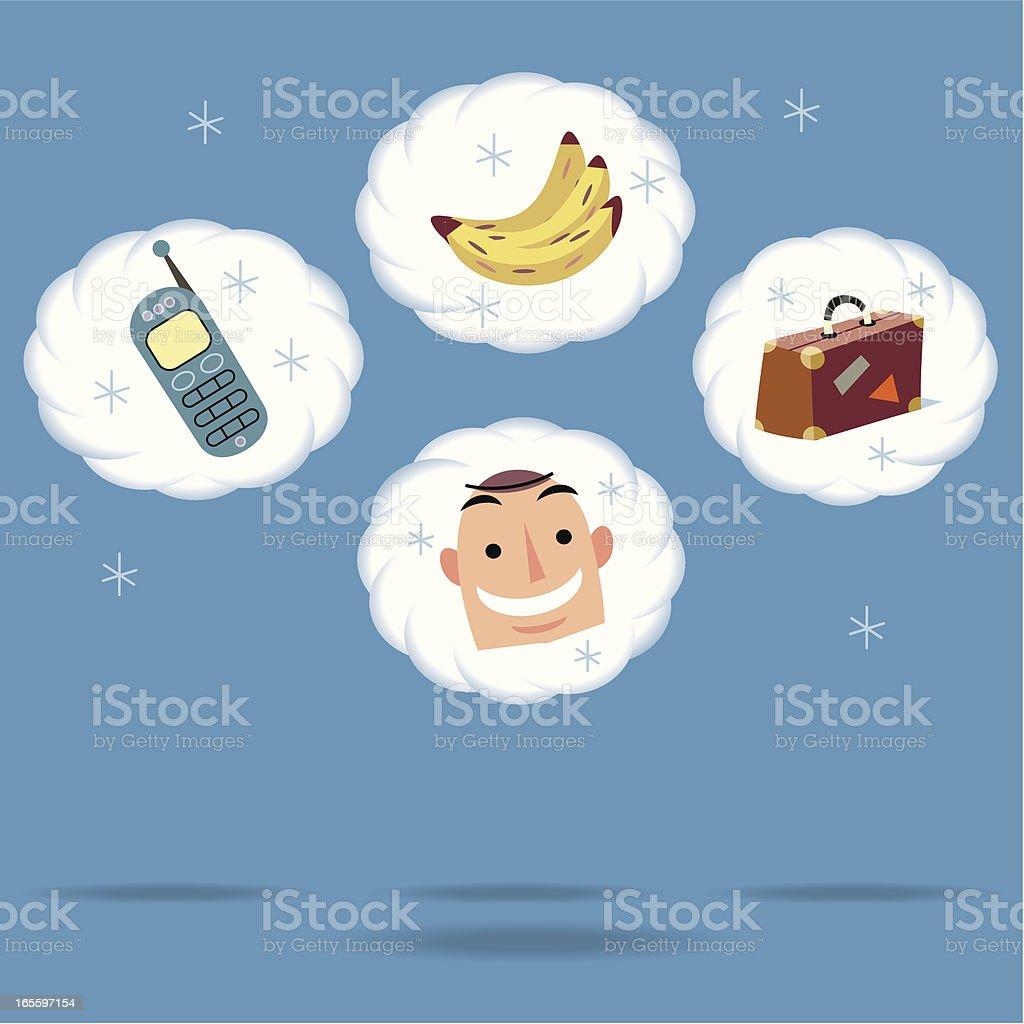 ¿Qué hay en tu cuenta hoy? ilustración de qué hay en tu cuenta hoy y más banco de imágenes de adulto libre de derechos