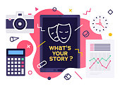 istock What's Your Story? Modern Design Layout 1181022065