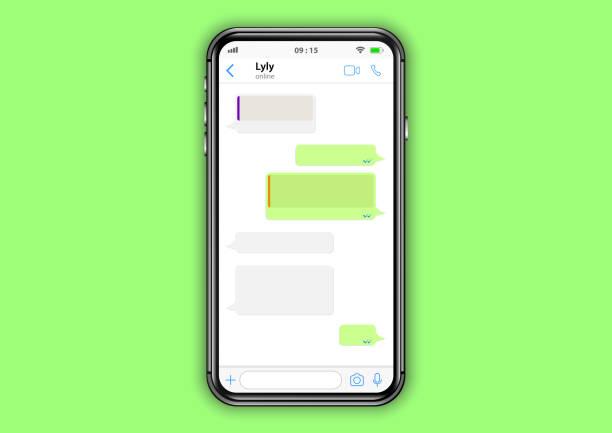 whatsapp interface - whatsapp stock illustrations