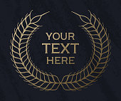 Textured wheat frame for text with space for your copy.