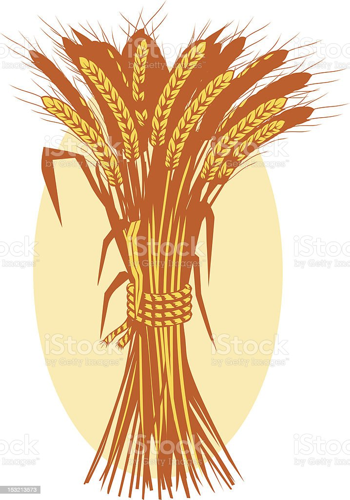 Wheat Bushel royalty-free stock vector art
