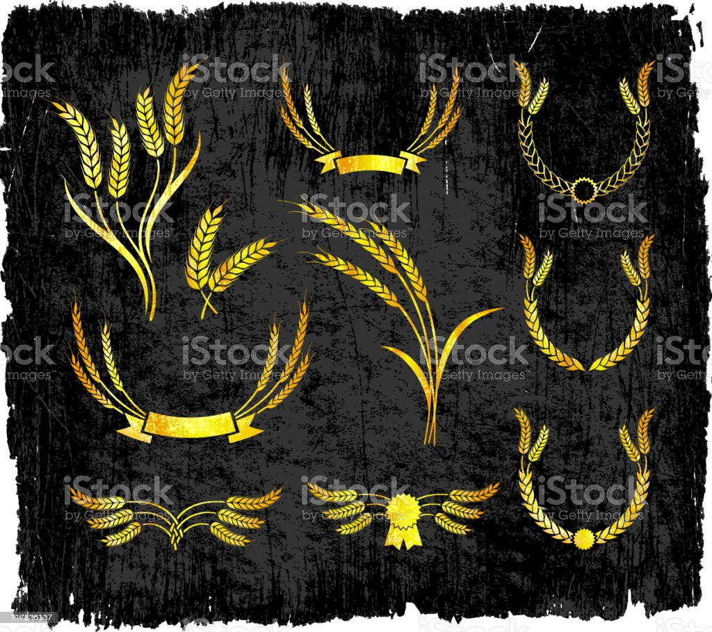 Wheat designs on royalty free vector Background royalty-free stock vector art