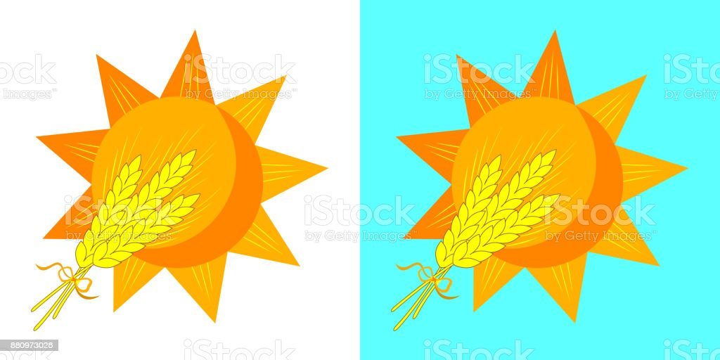 Wheat Ears And Sun Stock Illustration Download Image Now Istock