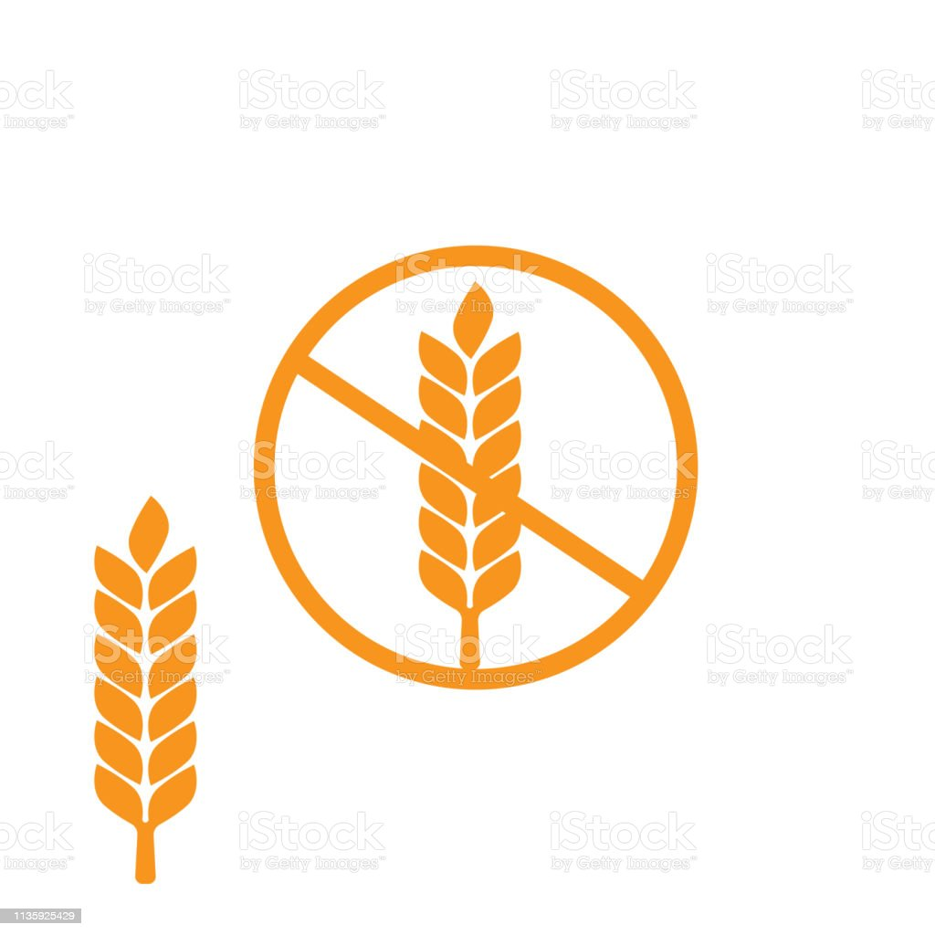 Wheat Gluten Free Grain Icon 100 Gluten Free Sticker For