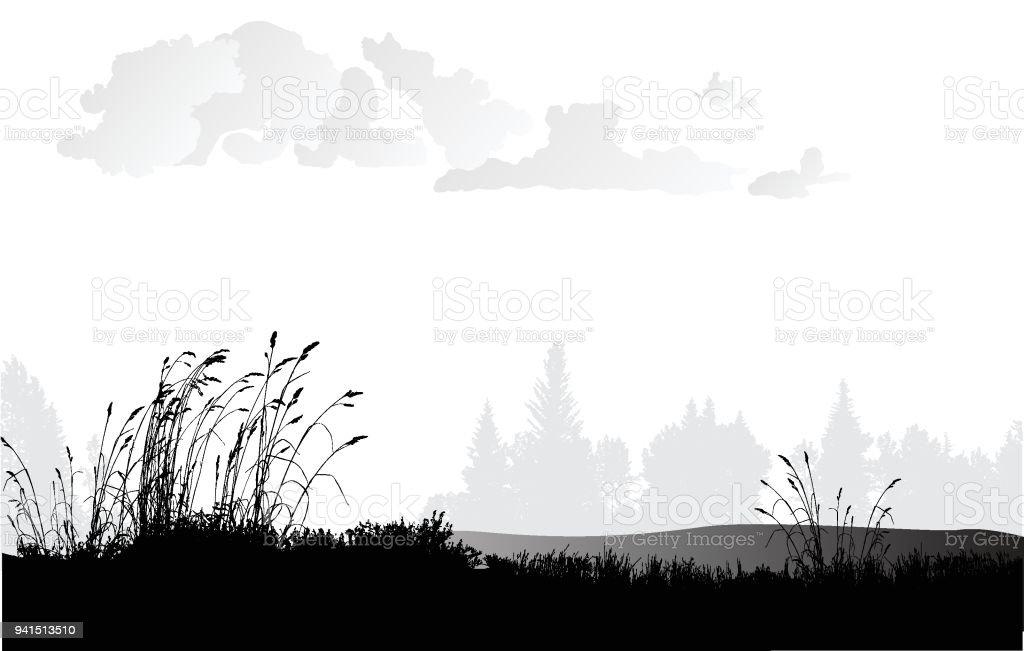 Weizen-Grasebenen – Vektorgrafik