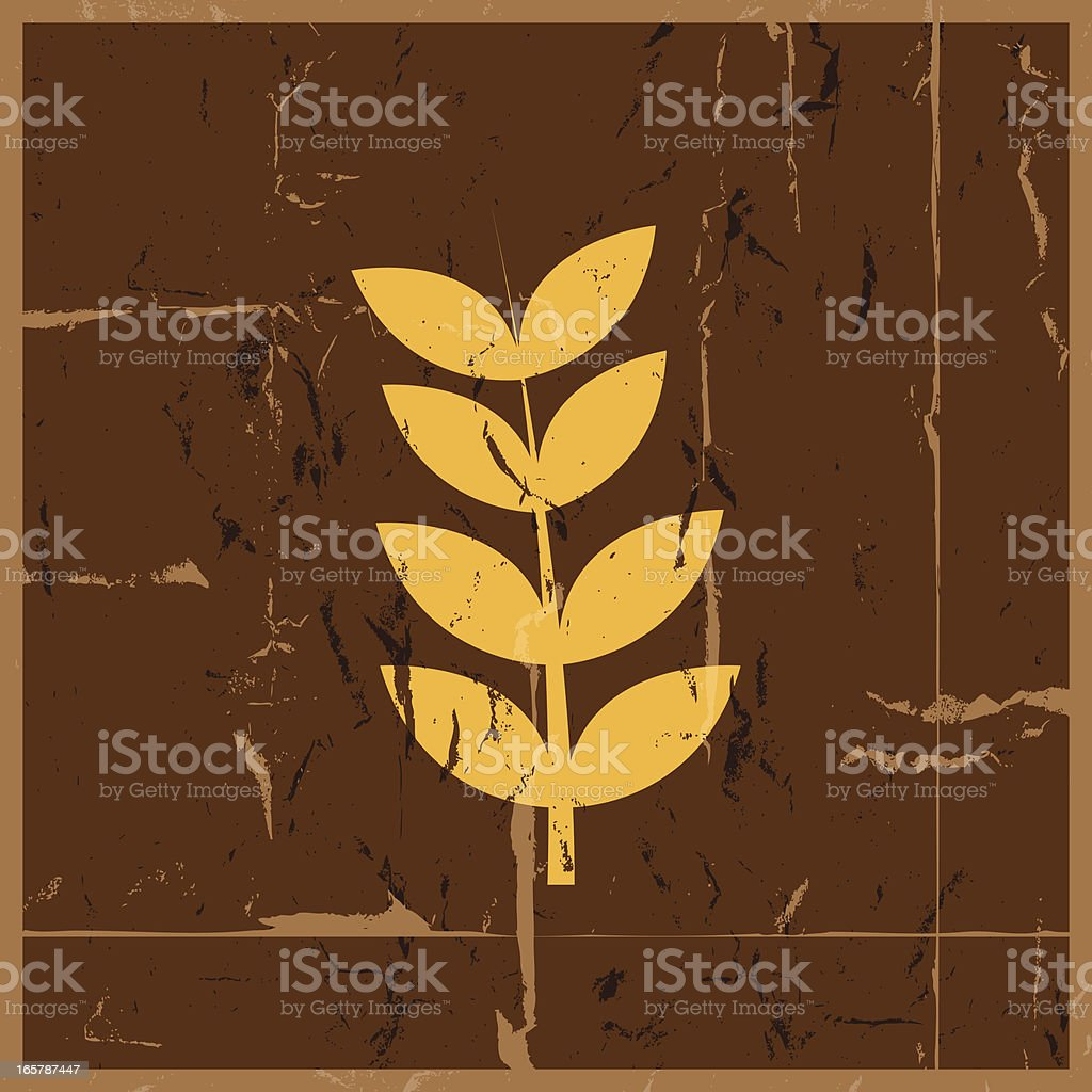 Wheat grunge royalty-free stock vector art