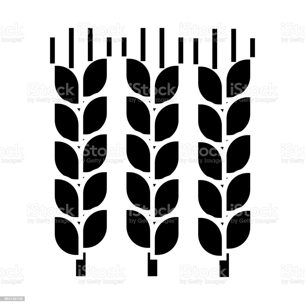 wheat  icon, vector illustration, sign on isolated background royalty-free wheat icon vector illustration sign on isolated background stock vector art & more images of agricultural activity