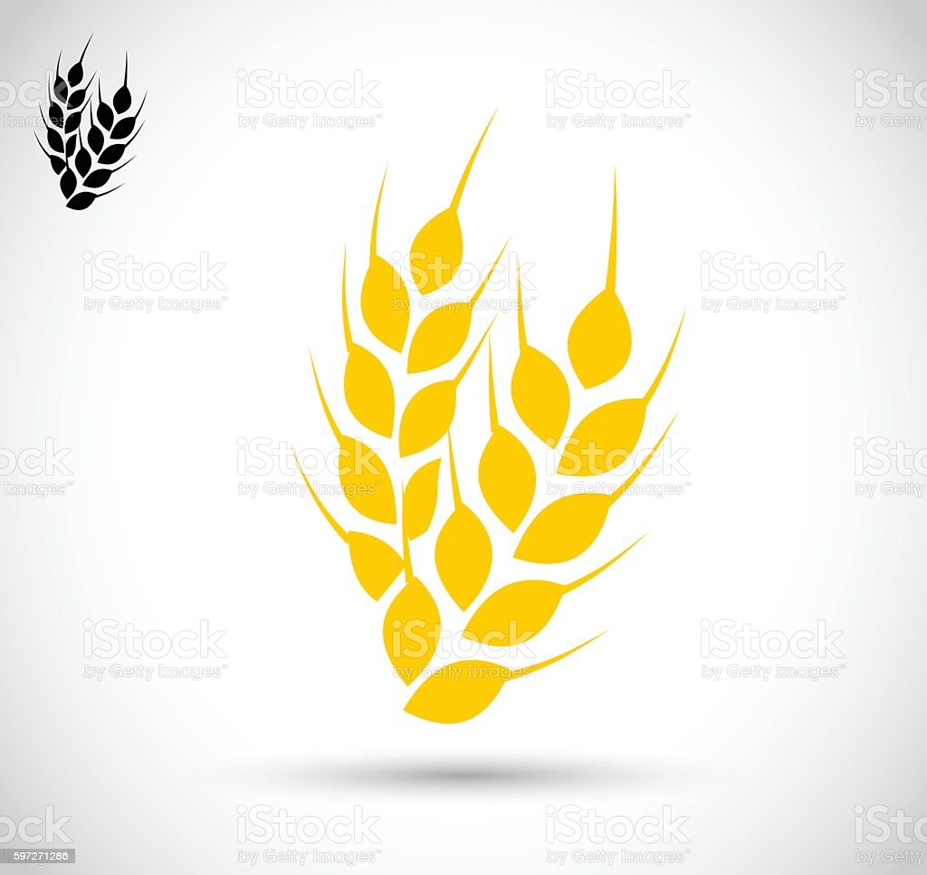 Wheat icon vector illustration wheat icon vector illustration – cliparts vectoriels et plus d'images de agriculture libre de droits