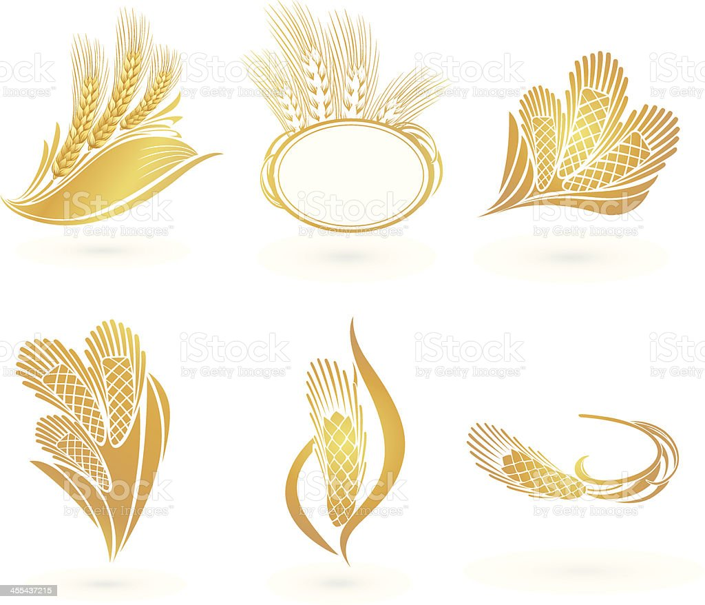 Wheat Icons royalty-free stock vector art