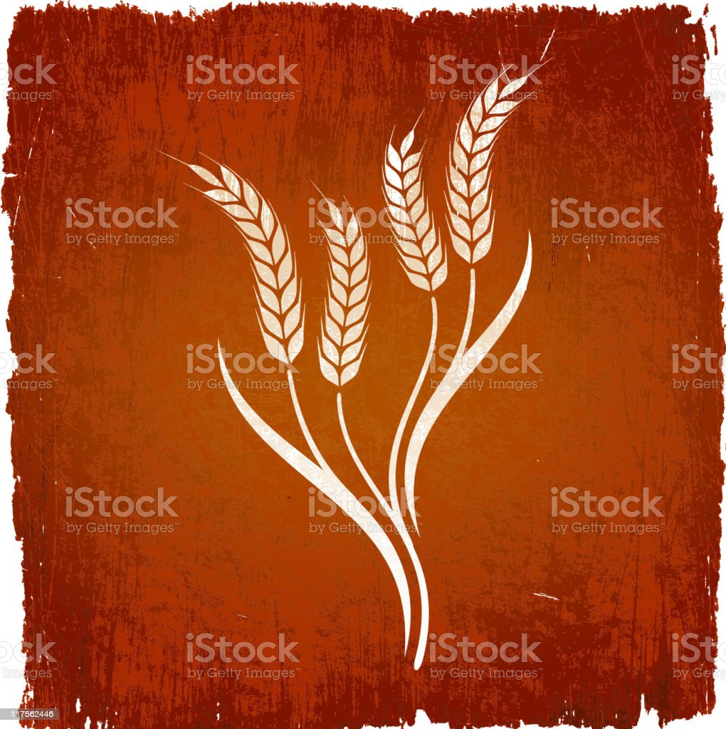 wheat on royalty free vector Background royalty-free stock vector art
