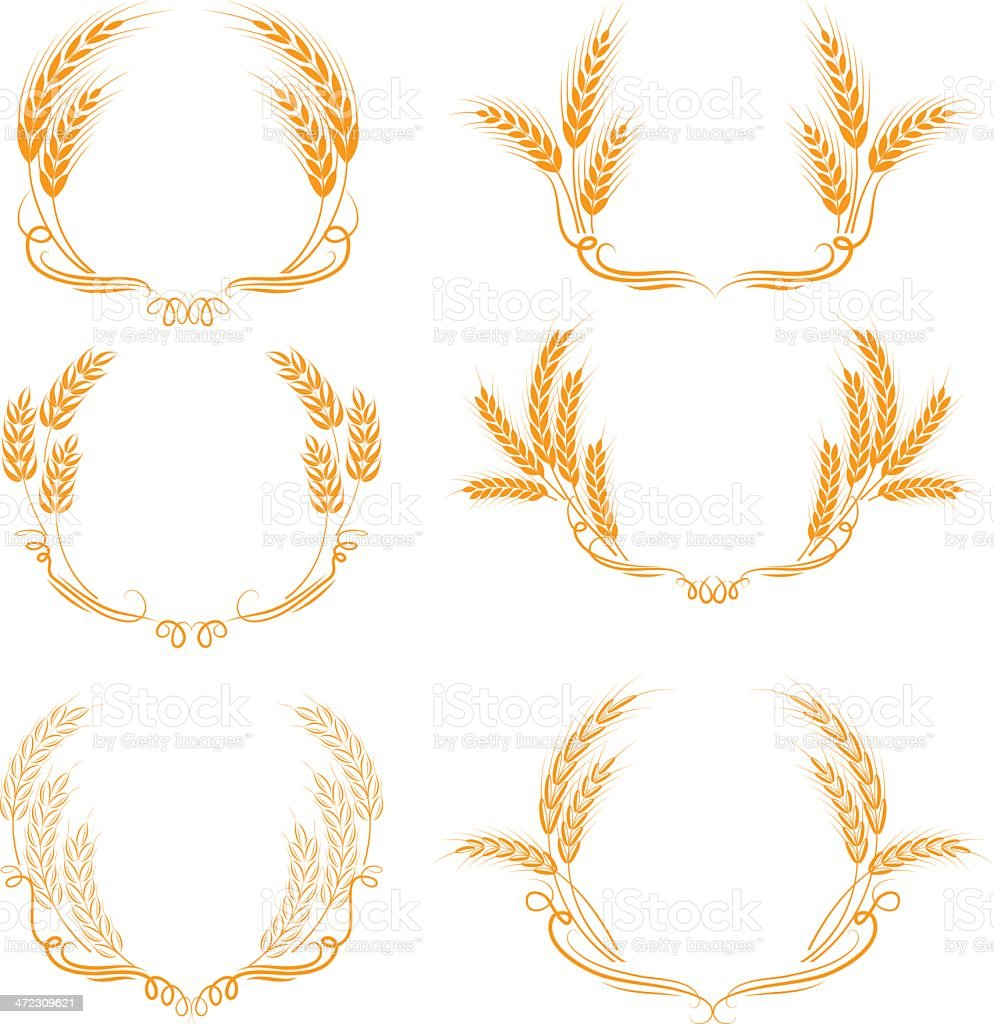 Wheat ornament royalty-free wheat ornament stock vector art & more images of agriculture