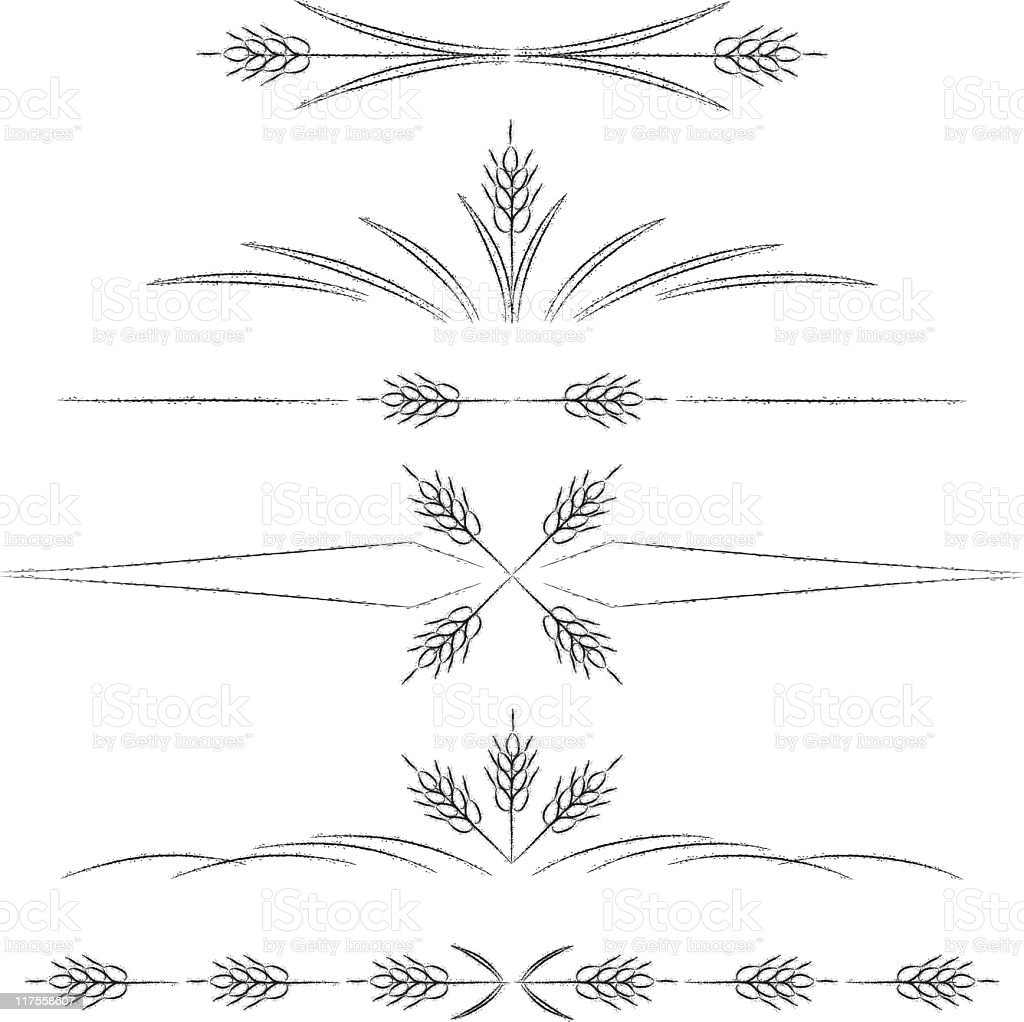 Wheat Page Dividers royalty-free stock vector art