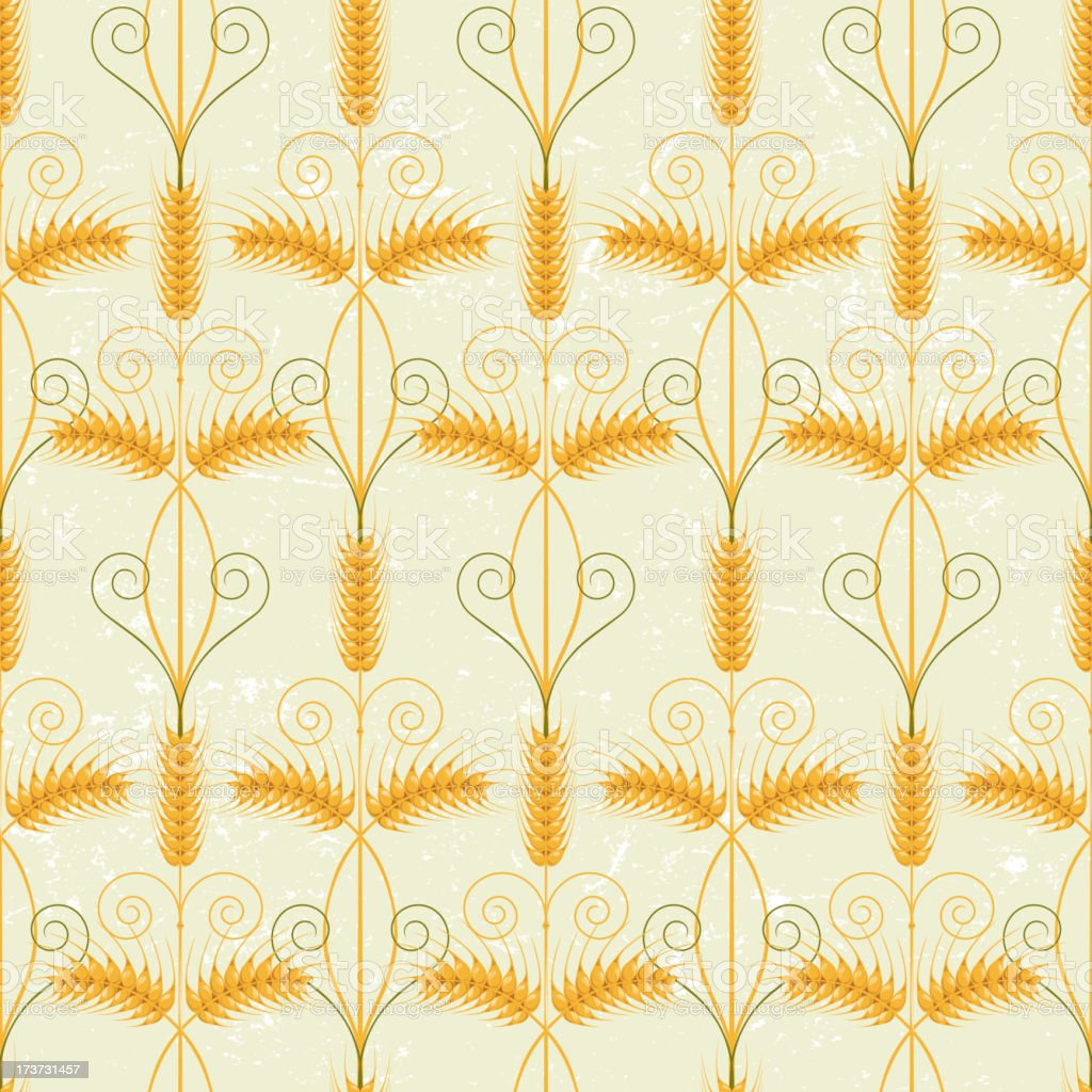 Wheat seamless royalty-free stock vector art