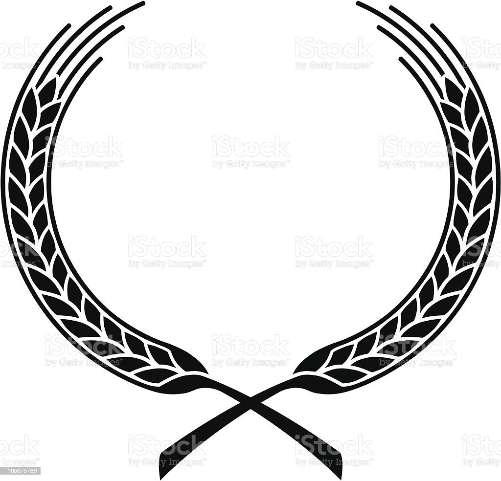 Wheat stalk wreath royalty-free wheat stalk wreath stock vector art & more images of black color