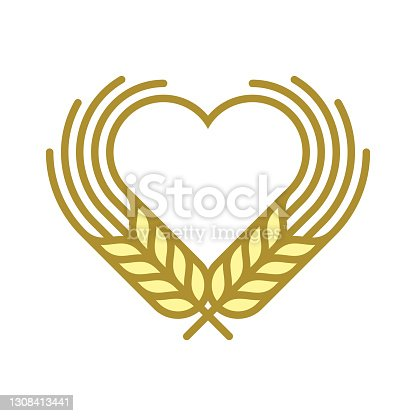 istock Wheat with heart 1308413441