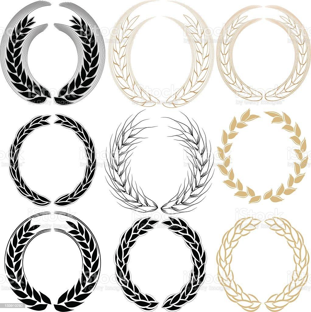 Wheat wreath royalty-free stock vector art