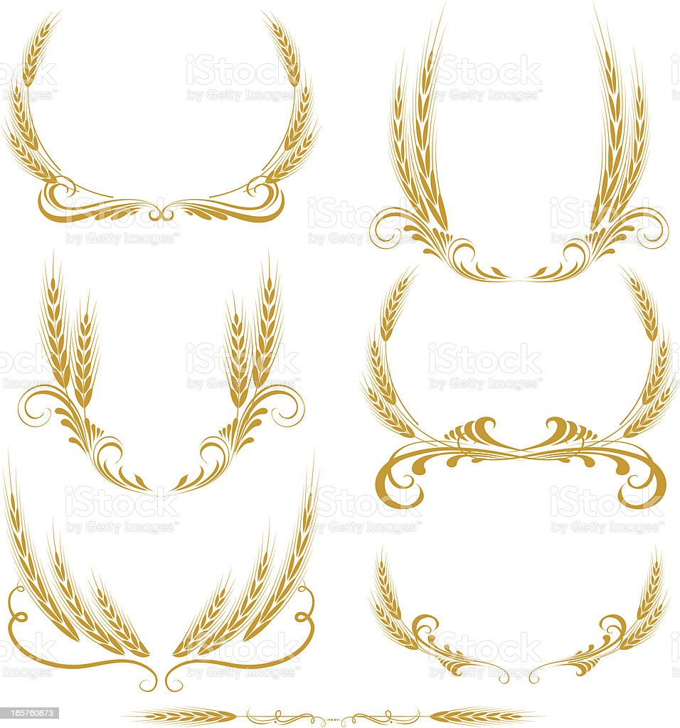 wheat wreath royalty-free stock vector art