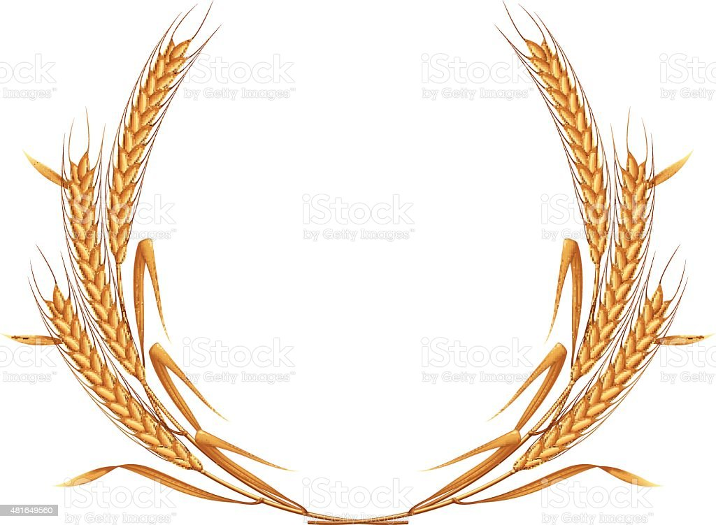 Wheat wreath. vector art illustration