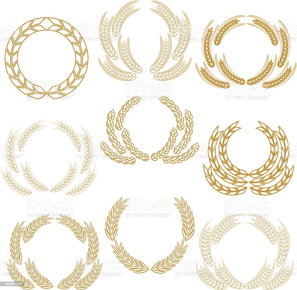 Wheat wreaths royalty-free stock vector art