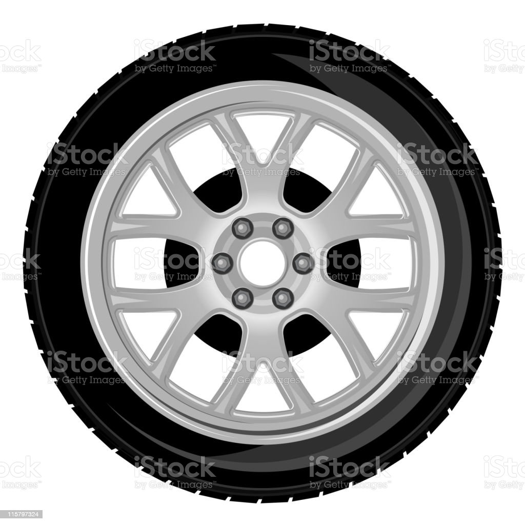 Wheel and tyre royalty-free stock vector art