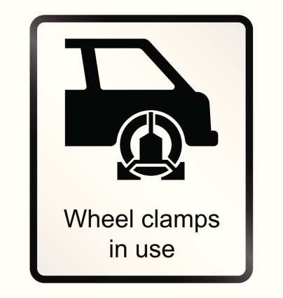 Wheel Clamp Information Sign